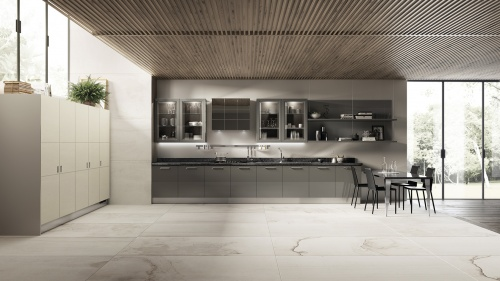Кухня Exclusiva,Steel Grey, SCAVOLINI